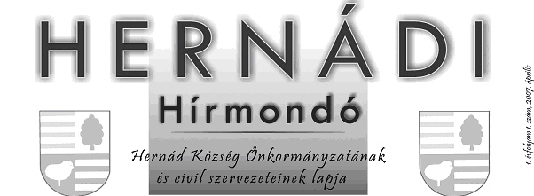Hernádi Hírmondó fejléc