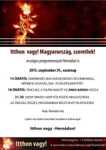 1a46a3d670 Hernád csatlakozott a a fenti című országos programsorozathoz, amelyre  szeptember 28-29-én kerül sor Magyarország mintegy 1300 településén.