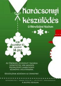 Karácsonyi készülődés - kézműves délután @ Művelődési Ház | Hernád | Magyarország