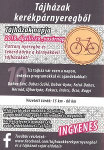 Tájházak kerékpárnyeregből @ Ócsa, Bugyi, Inárcs, Kakucs, Dabas és Hernád tájházai