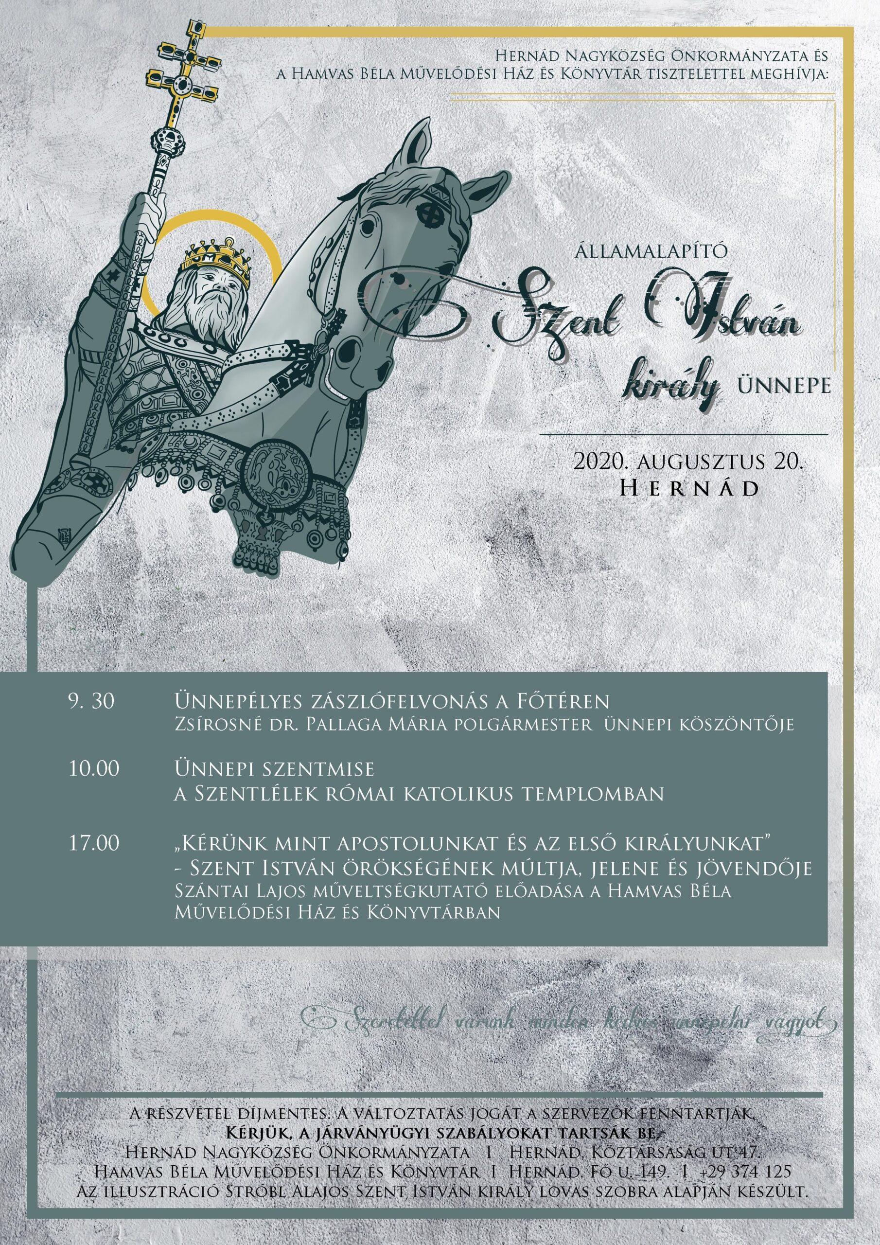 Meghívó Szent István király ünnepének eseményeire