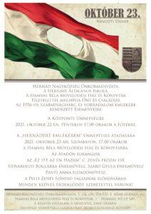 Megemlékezés 1956. október 23. hőseiről @ Főtér | Hernád | Magyarország